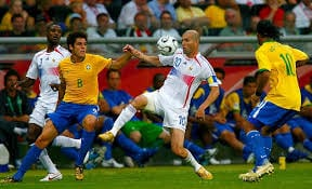 WATCH: The Greatest One Man Football Show Ever – Zidane vs Brazil 2006 | BenchWarmers
